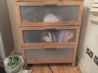 Ikea Wardrobe & chest of drawers (Buyer Dismantles On Collection)