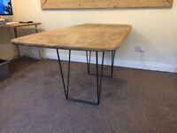 Ercol Dining Table 6ft with hairpin legs