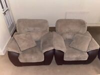 Perfect Condition 2 seater sofa and matching armchairs