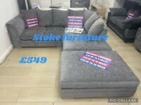 STUNNING BRAND NEW CORNER SOFAS BRAND NEW £549