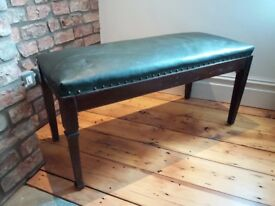 Antique upholstered bench