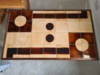 Tiled top vintage coffee table 70s/80s