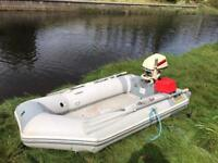 Zodiac inflatable rib and 6hp outboard engine boat