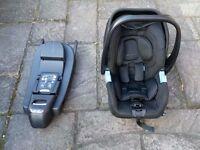 RECARO Privia Rear Facing Babies Car Seat & ISO Fix Base from Birth-13kg Group 0