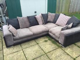 SCS corner sofa black and grey