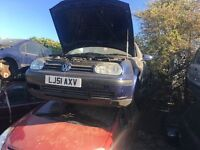 VOLKSWAGEN GOLF SE AUTO 2001 FOR PARTS ONLY
