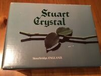 STUART CRYSTAL TUMBLER GLASSES - SET OF 2 IN BOX