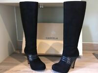 Carvela - Black knee high boots - UK 4