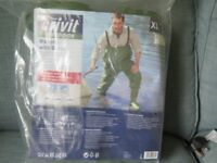 Chest waders.