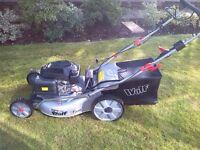 key start wolf self propelled lawn mower
