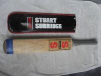 STUART SURRIDGE VINTAGE ORIGINAL JUMBO CRICKET BAT WITH SUPER COVER, PLUS CRICKET BALL