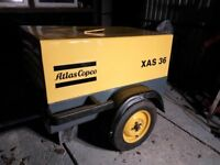 Atlas Copco Xas 36 road air compressor 2 tool 71cfm