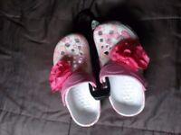 Girls summer clogs size 10-11 NEW