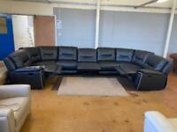 Harvey's real leather huge sofa