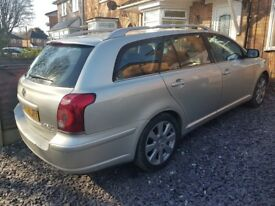 TOYOTA AVENSIS 2.2 D4D ESTATE 2008 1 LADY OWNER FULL SERVICE HISTORY HPI CLEAR DRIVES PERFECT MAY PX