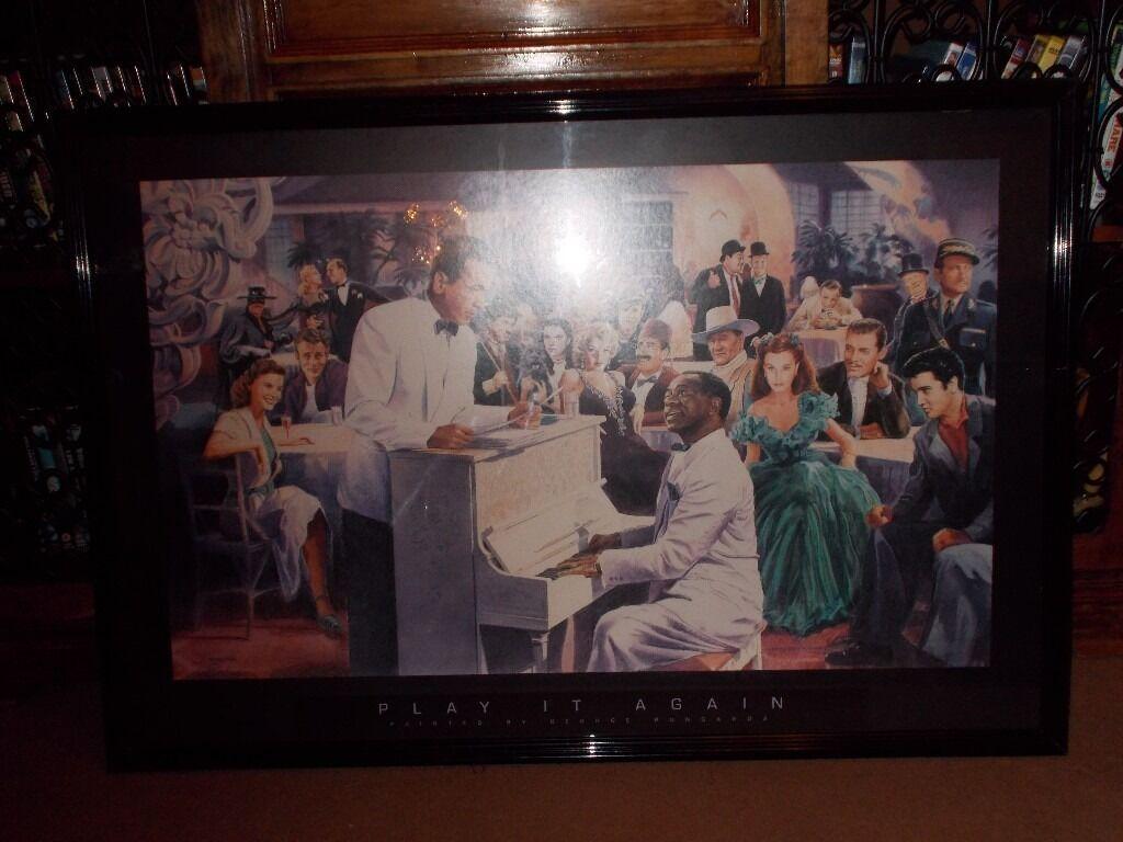 Casablanca PrinntPlay it again Samin Johnstone, RenfrewshireGumtree - (Play it again Sam.) Featuring many well known movie artists. (W 83 x H 64 cm) (£20) (No Offers)