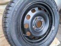 Tyre on wheel 185 65 R14 86T never been used, excellent condition