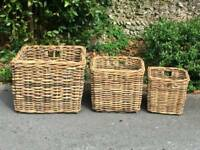 3 lovely storage baskets