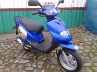 TGB 202 50cc SCOOTER / MOPED . .De-restricted + v/fast . Deal inc choice NEW helmet/gloves/lock £595