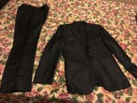 Two piece gloss black ONESIX5IVE Slaters suit