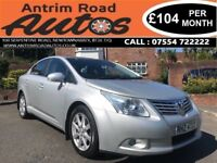 2009 TOYOTA AVENSIS 2.2 D4D ** LOW MILES ** FINANCE AVAILABLE WITH NO DEPOSIT