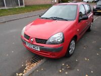 Renault Clio 1.5 DCi Expression, 2003 '03' Reg, Extras, M.O.T Feb 18, BARGAIN!