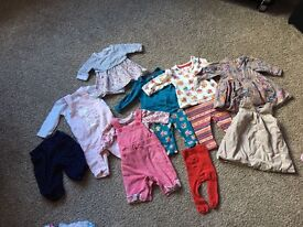 0-3 months girl baby clothes - outfits - vests - dresses and more