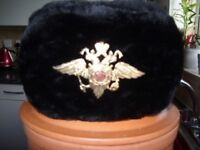 russian hat with badge