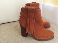 Classic ladies suede leather boots