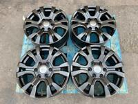 "18"" 6x139.7 Ford Ranger Wildtrak Off Road Swamper Satin Black Wheels Alloys"