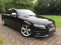 2008 Audi A4 1.8 TFSI S Line FSH Xenons Lights 6 gears aluminium window side and mirror covers