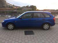 Car for sale Mazda 323F 5 door hatchback 2003 in blue colour low milage 67455