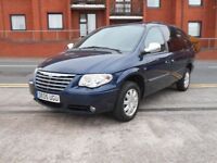05 CHRYSLER VOYAGER 2.8 CRD LIMITED + 7 SEATS + DIESEL + AUTO + 61K + SAT NAV + LEATHER