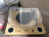 ION Audio Max LP Belt-Driven Turntable with Built-In Stereo Speakers and USB