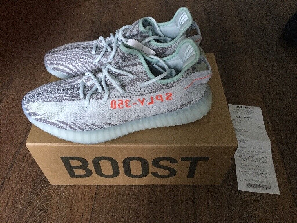 b6533379bf250 ADIDAS YEEZY BOOST V2 350 BLUE TINT UK 10.5 US 11 IN HAND LIMITED