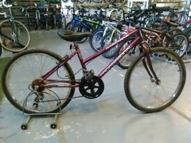 OLDER CHILDS PROFESSIONAL MARGARITA BIKE 24 INCH WHEELS 15 SPEED BURGUNDY OK CONDITION