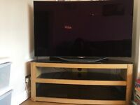 Oak TV stand from Currys nearly new