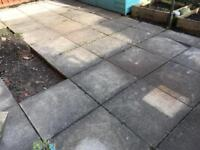 25 paving stones (used) FREE for collection