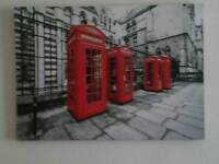 Red London phone box canvas