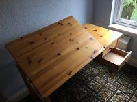 Child study set - desk, chair, shelves set - good condition