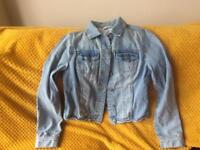 New look denim jacket size 10 worn twice