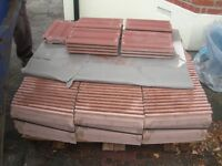 Approx 140 Brand New Roof Tiles Weinberger standard pattern mottled red sandfaced.