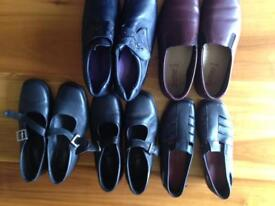 5 pairs of ladies shoes size 40