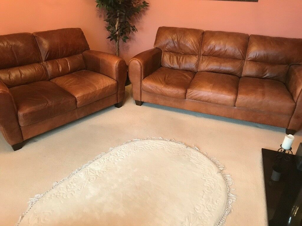 High Back leather sofa by DFS - 3 seater and a 2 seater (matching) | in  Southampton, Hampshire | Gumtree