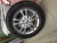 Set of 4 gently used tires and rims.