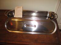 Brand new unused stainless steel fish kettle