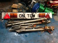 A frame tow bar towing single towing