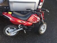 Motorbike 50 cc red and black
