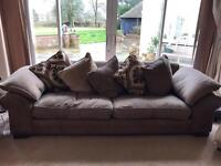 Brown 4 Seater Sofa