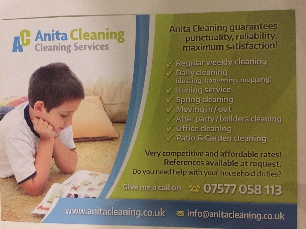 domestic cleaner in bedfordshire gumtree anita cleaning service